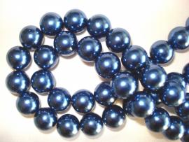 Glasparel rond 12 mm donkerblauw