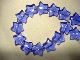 Glaskraal stervormig kobaltblauw