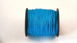 Waxdraad 1 mm aquablauw