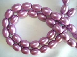 Matte glasparel ovaal violet lila