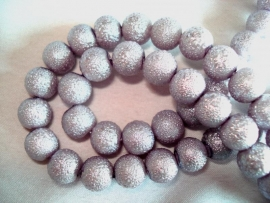IJsparel rond 12 mm licht lila