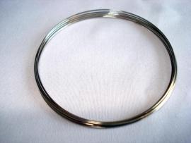 Spiraaldraad armband zilverkleur