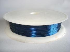 Rol metaaldraad 0,3 mm blauw (wire-wire)