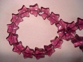 Glaskraal stervormig paars
