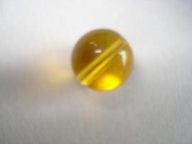 Glaskraal rond 10 mm goudbruin