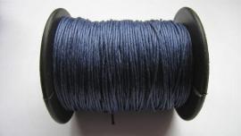 Waxdraad 0,5 mm donkerblauw
