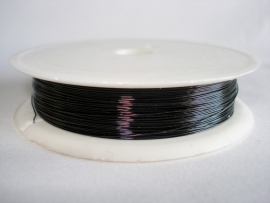 Rol metaaldraad 0,3 mm zwart (wire-wire)