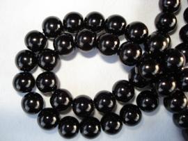 Glasparel rond 16 mm zwart