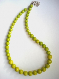Ketting natuursteen lime