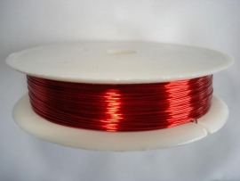 Rol metaaldraad 0,3 mm rood (wire-wire)