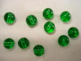 Glaskraal rond 8 mm diepgroen