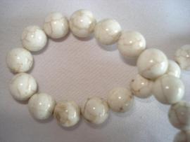 Howliet kraal rond 6 mm gebroken wit