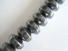 Streng magnetische hematiet kralen spacer 8x5 mm
