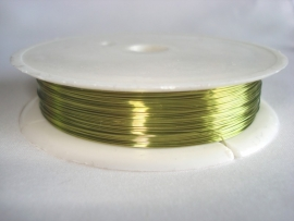 Rol metaaldraad 0,3 mm limegroen (wire-wire)