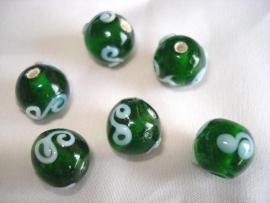 Glaskraal groen met wit
