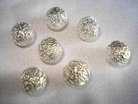Tibetaanse filigrijn kraal zilverkleur 10 mm