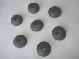 Houten kraal 20x12 disc antraciet