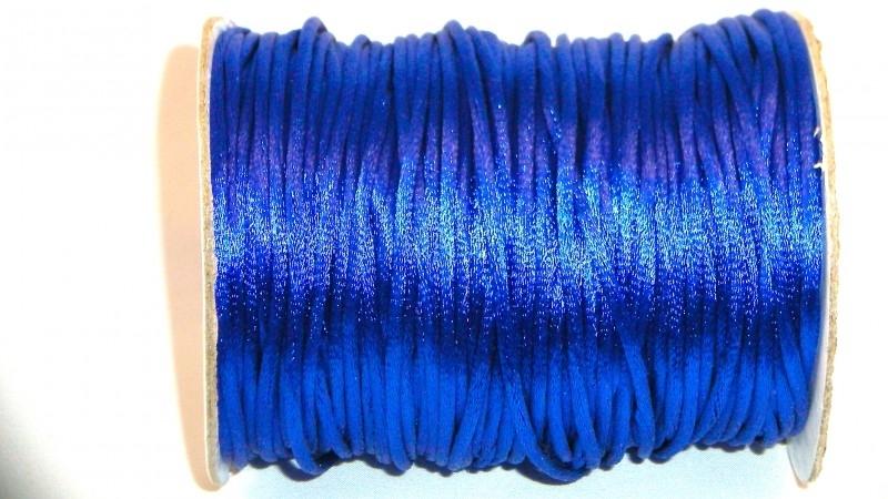 Satijnkoord 2,5 mm kobalt blauw