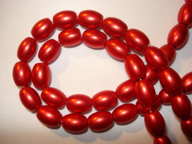 Matte glasparel ovaal rood