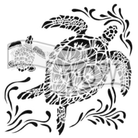 The Crafter's Workshop Sea Turtles 6x6 Inch Stencil (TCW610s)