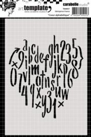 Carabelle template 10,5x14,8cm coeur alphabétique