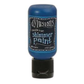 Ranger Dylusions Shimmer Paint Flip Cap Bottle - London Blue DYU74434 Dyan Reaveley