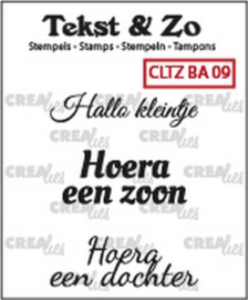 Crealies Clearstamp Tekst&Zo Baby 9 (NL) 33 mm CLTZBA09