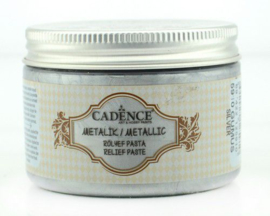 Cadence Metallic Relief Pasta Zilver 01 085 5910 0150 150 ml