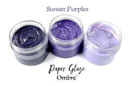Picket Fence Studios Paper Glaze Ombre Sunset Purples (PG-301)