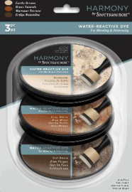 Spectrum Noir Inktkussen - Harmoniy Water Reactieve 3pk - Earthy Browns