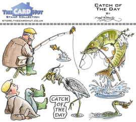 The Card Hut Catch Of The Day Clear Stamps (MBOCOTD)