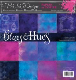 Pink ink paper pad Blues & hues  PIPAP05