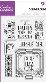 Crafter's Companion  Acryl Stamp - Razzle Dazzle