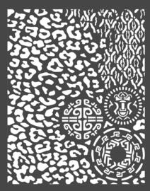 Stamperia Thick Stencil 20x25cm Amazonia Animalier with Tribals (KSTD062)