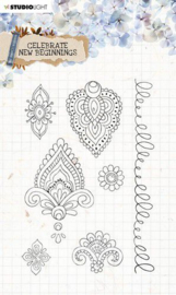 Studio Light Clear Stamp Celebrate new beginnings nr.516 STAMPCNB516 A5