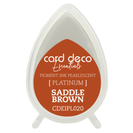 Card Deco Essentials Fast-Drying Pigment Ink Pearlescent Saddle Brown  CDEIPL020