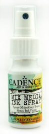 Cadence Mix Media Inkt spray Wit 01 034 0001 0025 25 ml