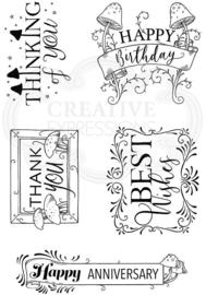Pink Ink Designs Decorative Sentiments A6 Clear Stamp PI118
