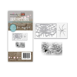 Polkadoodles Spider Web Stencil (PD8104) 9.9x21cm