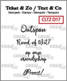 Crealies Clearstamp Tekst & Zo Wijn A (NL) CLTZD17 max. 28mm