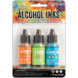 Ranger Alcohol Ink Kits Spring Break 3 x 15 ml  TAK52555 Tim Holtz