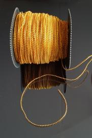 Parelsnoer goud 3 mm, 1 meter