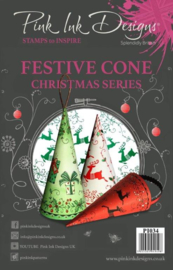 Pink Ink Designs Clear Stamp Festive Cone A5 P1034