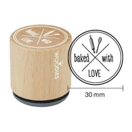 Woodies Baked with Love Rubber Stamp (WE5008)