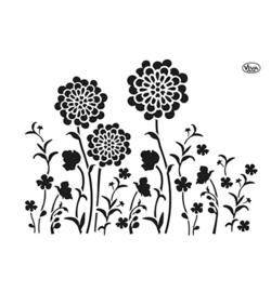 902206600 - Blob Paint, Universal-Schablone, Blumenwiese A3