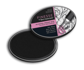 Spectrum Noir ovale Inktkussen - Finesse Alcohol-proof - Noir Black