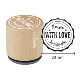 Woodies For you With Love handmade Rubber Stamp (WE5001)