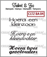 Crealies Clearstamp Tekst&Zo Baby BA04
