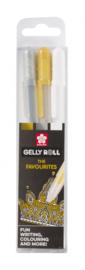 Sakura • Gelly rolls goud-zilver-wit unieke set met 3 POXPGBMIX3A