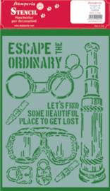 Stamperia Stencil A4 Lady Vagabond Escape the Ordinary (KSG456)
